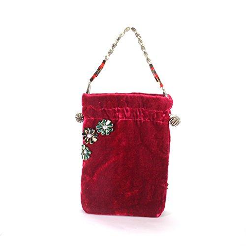 Arisha Kreation Co Women Hand Bag (Hot Pink)