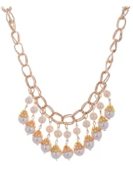Amaira Jewels Gold Plated Strand Necklace For Women - B0133GA48K