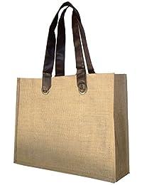 Foonty Brown Handle Jute Bag