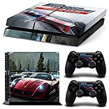 Elton Needs For Speed Rivals Theme Skin Sticker Cover For PS4 Console And Controllers