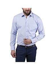 Tag & Trend Cotton Formal Shirt Slim Fit Columbia Blue Color For Men