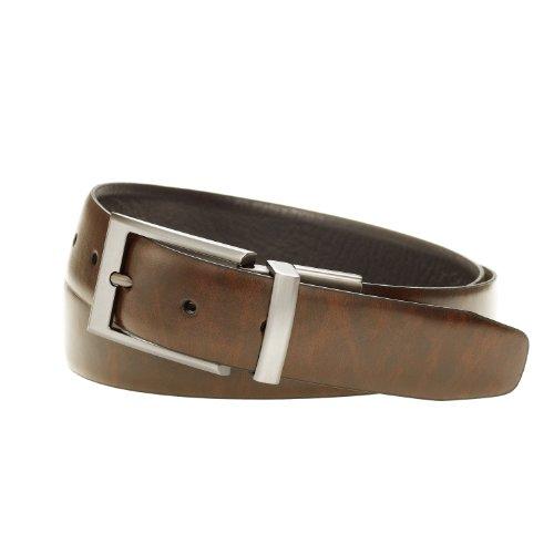 #1 Dockers Men's 32mm Feather Edge Reversible Belt for