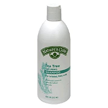 Nature's Gate Tea Tree Calming Shampoo for Irritated, Flaky Scalp, 18-Ounce Bottles (Pack of 3)