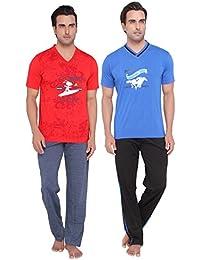 Men's Casual Tops & Pyjama Set Combo By Valentine - B01BSMBT80