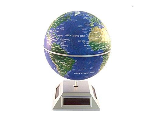 Glovion Eco Solar Powered Auto Spinning Rotary World Globes Self Rotating Globe Model (5.5