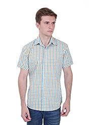 Skatti Pure Cotton Multi Color Half Sleeves Check Shirt