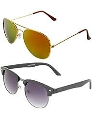 Zyaden COMBO Of Avaitor Sunglasses & Clubmaster Sunglasses (Combo-78)