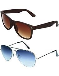 Zyaden COMBO Of Wayfarer Sunglasses & Aviator Sunglasses (Combo-24)