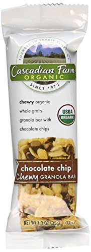 Theme Park Food and Safety Tips for the Whole Family - Cascadian Farm Organic Chewy Granola Bar, Chocolate Chip, 1.2 Ounce 6-Count Boxes, (Pack of 4)