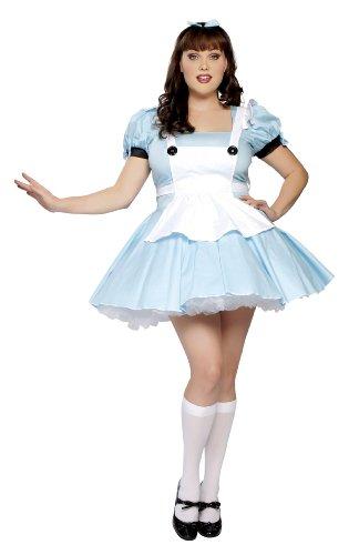 Halloween 2017 Disney Costumes Plus Size & Standard Women's Costume Characters - Women's Costume CharactersRoma Costume Plus-Size 3 Piece Miss Alice Costume, Baby Blue, 1X-2X