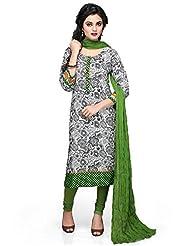 Vastra Vinod Teal Green Cotton Readymade Kurti With Legging