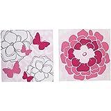 Butterfly Bouquet Wall Decor - Set Of 2