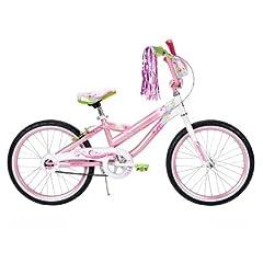 Huffy Girls Coastal Bike Stardust White/Glitter Pink 20-Inch