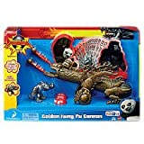 Kung Fu Panda 2 Exclusive Playset Golden Kung Fu Cannon Includes Wolf Warrior Figure