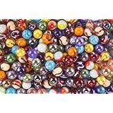 Mega Marbles SET OF 48 ASSORTED BULK - 1/2' PEEWEE MARBLES