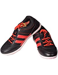 TRV T-9 BLACK & RED SPORTS SHOES