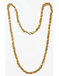 DollsofIndia Gold Plated Designer Chain - Stone And Metal - Golden - B00T3QOTZY