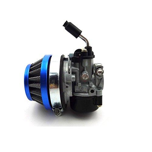 TC-Motor Racing Carb Carburetor + Air Filter 58mm Blue For 2 Stroke 49cc 50cc 60cc 66cc 80cc 2 Stroke Engine Gas Motorized Bicycle Push Bike