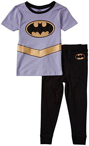 DC Little Girls' Batgirl Gold PJ Set (Toddler) - Multicolor - 4T
