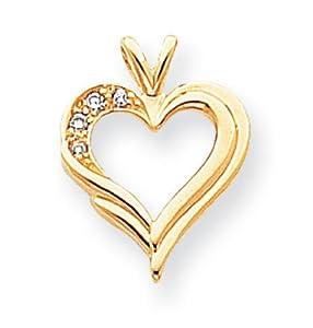 IceCarats Designer Jewelry 14K Aa Diamond Heart Pendant