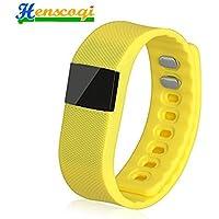 Henscoqi TW64 Fashion Smart Sports Wrist Band Bracelet With Bluetooth Orange Yellow