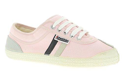 Kawasaki 23 Retro- Zapatillas para mujer, color pink-black whit, talla 38