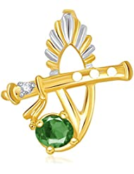 VK Jewels The Bansuri Pendant Gold And Rhodium Plated - P1886G [VKP1886G]