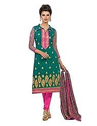 Multi Coloured Chanderi Cotton Dress
