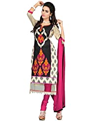The Fashion World Women Cotton Salwar Suit (TFW87-02-G2_Black_Black_Free Size)