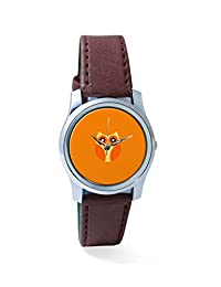 PosterGuy Orange Cute Little Owl Bird Illustration Cartoon Analog Women's Wrist Watch-2238324536-RS2-S-BRW