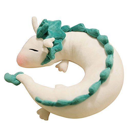 Cute Little White Dragon U-shaped pillow neck pillow Japanese animation Spirited Away