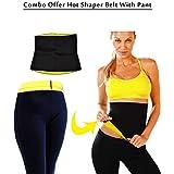 Sunshine Combo Offer Hot Shapers Slimming Belt With Hot Shaper Pant (S_Black)