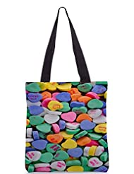 Snoogg Daily Candy Poly Canvas Tote Bag