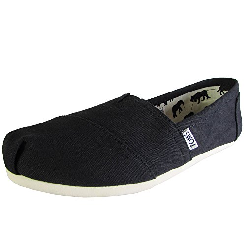 TOMS Men's Classic Canvas Slip-On,Black,11 M