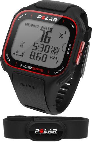 Polar RC3 GPS HR - Reloj con pulsómetro y GPS integrado, compatible con sensor de zancada, de cadencia y de...