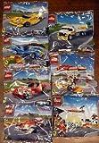 2014 The New Shell V-power Lego Collection Ferrari F138, F12 Berlinetta, 250 GTO, 512 S, Finish Line, Podium, Shell Station & Lego Minifigure, Tanker Set Sealed