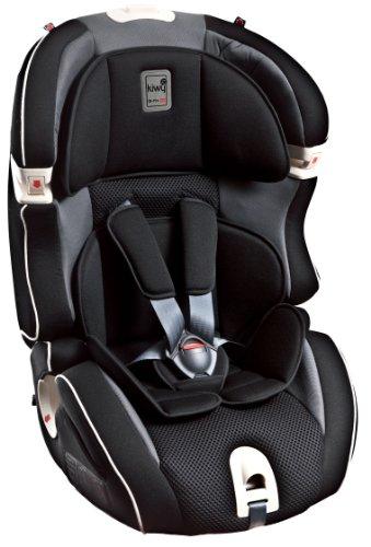 Kiwy SLF123 Q-Fix - Silla de coche semi-universal,grupos 1-2-3, color negro