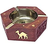 Craft Art India Table Top Decorative Wooden Ash Tray For Cigarette / Cigar Etc. - B01HXI4W3W