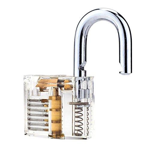 G2PLUS Transparents Schloss Schlössern Vorhängeschlösser Übungsschloss mit 2 Stabilen Schlüsseln für Schlosser Anfänger - 6
