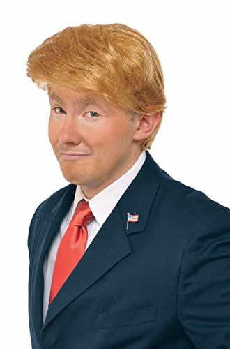 Trump and Clinton Halloween Costumes - Choose Edgy or Funny - Mr. Billionaire Wig Adult Costume Accessory