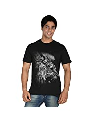 Trendster Lion Printed Men's Round Neck T-Shirt