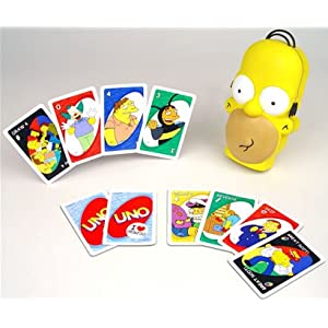 Click to buy Uno Simpsons Homer's head from Amazon!