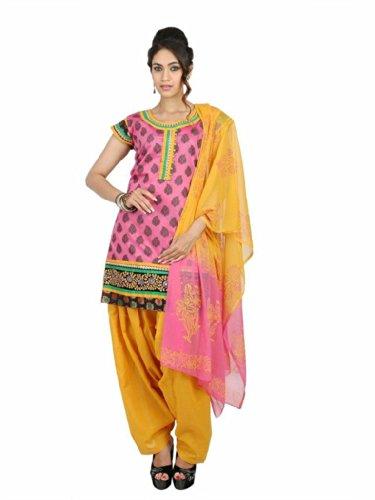 Fashiontra Women's Cotton Straight Cut Salwar Suit - B00KNW1BW6