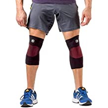 Athletic Knit Knee Sleeves: Moderate Knee Pain Relief, Knee Support, Effective Compression For Knee Sprain & Knee...