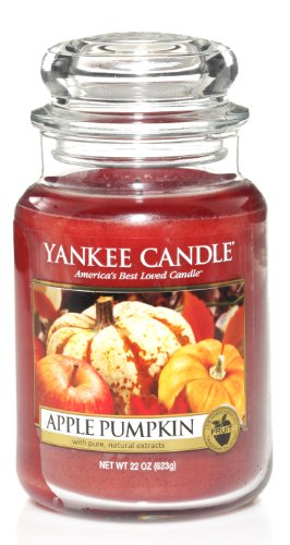 Apple Pumpkin Scented Jar Candle
