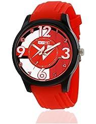 Yepme Men's Transparent Analog Watch -Red/Orange -- YPMWATCH3139