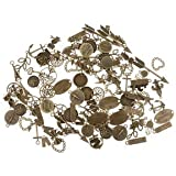 Banggood 120pcs Lots Charms Wholesale Assorted Vintage Bronze Alloy Pendants Findings