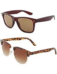 Zyaden COMBO Of Wayfarer Sunglasses & Clubmaster Sunglasses (Combo-64)