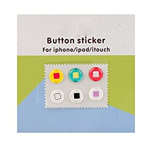iphone button stickers home button stickers for iphone itouch 6 pack 11667