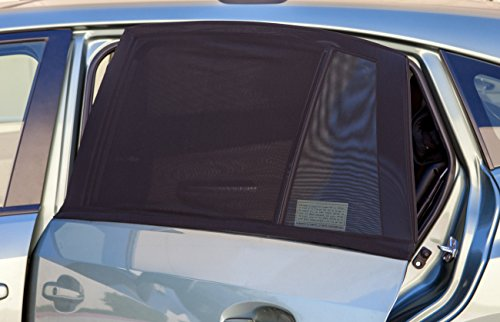 OxGord Auto Window Shade (Includes Two Covers) for Car, SUV, & Van – Privacy Screen Open Air Mesh Screen Cover | Universal Fit